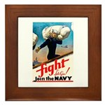 Join the Navy Framed Tile