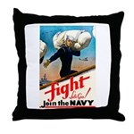 Join the Navy Throw Pillow