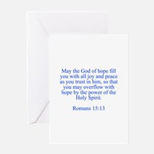 May the God of hope fill you with all joy and peac
