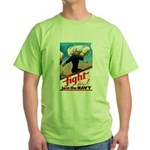 Join the Navy (Front) Green T-Shirt