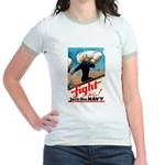 Join the Navy (Front) Jr. Ringer T-Shirt