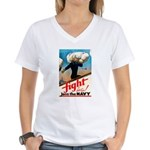 Join the Navy (Front) Women's V-Neck T-Shirt