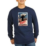 Join the Navy (Front) Long Sleeve Dark T-Shirt