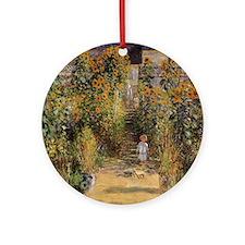 Claude Monet Artists Garden at Ve Ornament (Round)