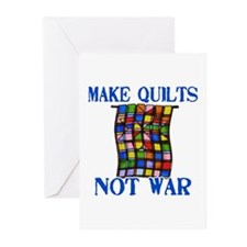 Make Quilts Not War Greeting Cards (Pk of 10)