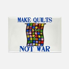 Make Quilts Not War Rectangle Magnet