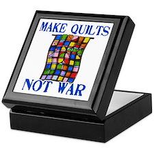 Make Quilts Not War Keepsake Box