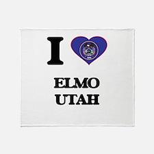 I love Elmo Utah Throw Blanket