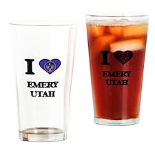 I love Emery Utah Drinking Glass