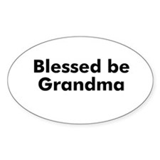 Blessed be Grandma Oval Decal