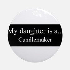 Daughter - Candlemaker Ornament (Round)