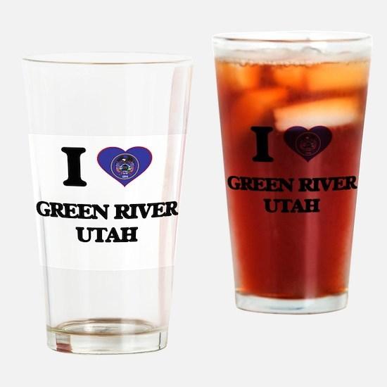 I love Green River Utah Drinking Glass