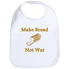 Make Bread Not War Bib