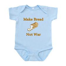 Make Bread Not War Infant Bodysuit