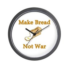 Make Bread Not War Wall Clock
