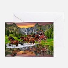 Wells Fargo Stagecoach Greeting Cards