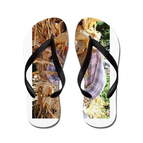 fall scarecrow flip flops by admin cp129314141. Black Bedroom Furniture Sets. Home Design Ideas
