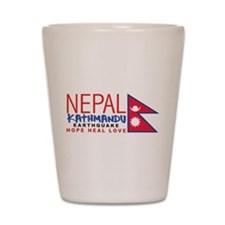 Nepal Earthquake Shot Glass