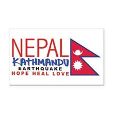 Nepal Earthquake Rectangle Car Magnet