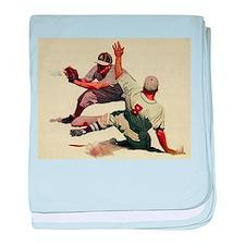 Vintage Sports Baseball baby blanket