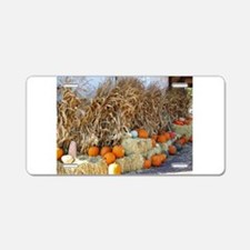 The Bounty of Fall harvest Aluminum License Plate