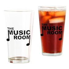Funny Music logo Drinking Glass