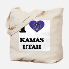I love Kamas Utah Tote Bag