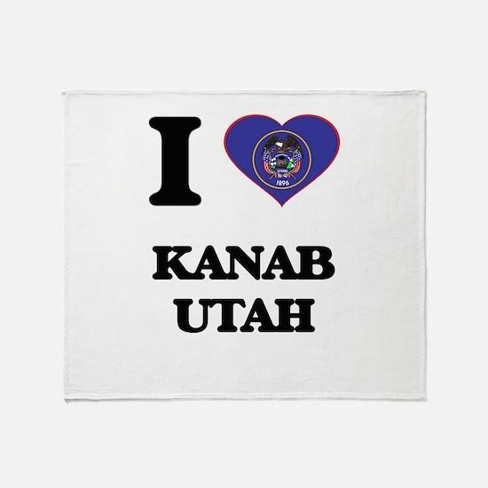I love Kanab Utah Throw Blanket