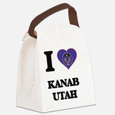 I love Kanab Utah Canvas Lunch Bag