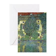 Schloss Kammer By Gustav Klimt Greeting Cards