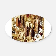 Maize display during fall in PA Oval Car Magnet