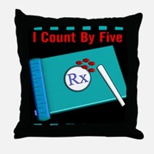 pharmacist i count by 5 2 Throw Pillow