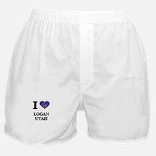 I love Logan Utah Boxer Shorts