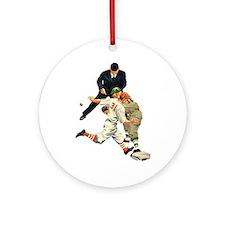 Vintage Sports Baseball Ornament (Round)