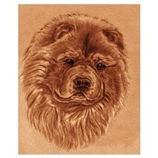 Chow Chow sepia Canvas Art
