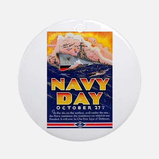 Navy Day for Sailors Ornament (Round)
