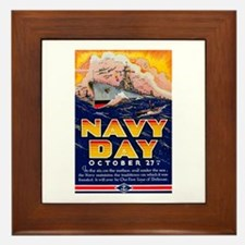 Navy Day for Sailors Framed Tile