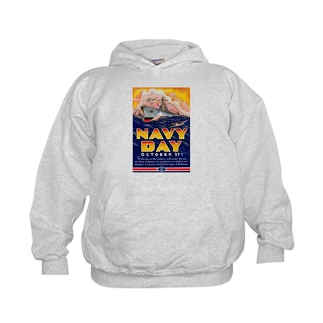 Navy Day for Sailors (Front) Kids Hoodie