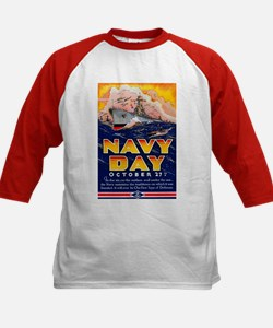 Navy Day for Sailors (Front) Kids Baseball Jersey