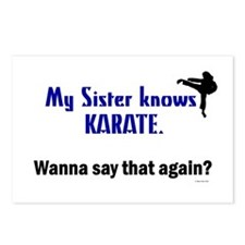 My Sister Knows Karate Postcards (Package of 8)