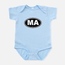 Massachusetts Euro Oval Green Infant Bodysuit