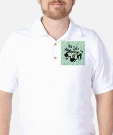 The Cat's Meow Teal T-Shirt