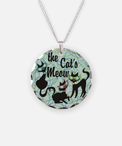 The Cat's Meow Teal Necklace