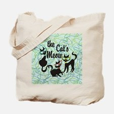 The Cat's Meow Teal Tote Bag