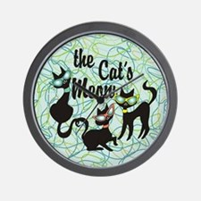 The Cat's Meow Teal Wall Clock