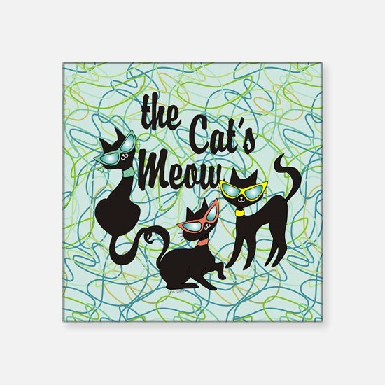 The Cat's Meow Teal Sticker