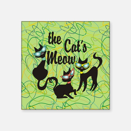 The Cat's Meow Green Sticker