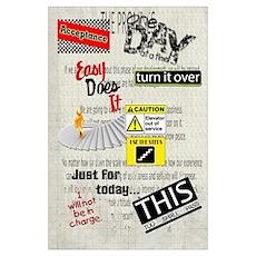 12 Step Slogans Poster