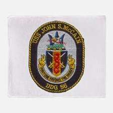 USS JOHN S. MCCAIN Throw Blanket