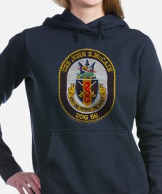 USS JOHN S. MCCAIN Women's Hooded Sweatshirt